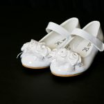 Patent white shoes by Couche Tot