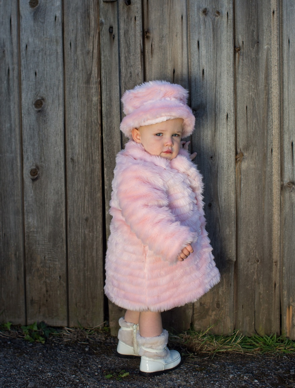 Fur Coat, Hat and Muff Set (available in Ivory or Baby ...
