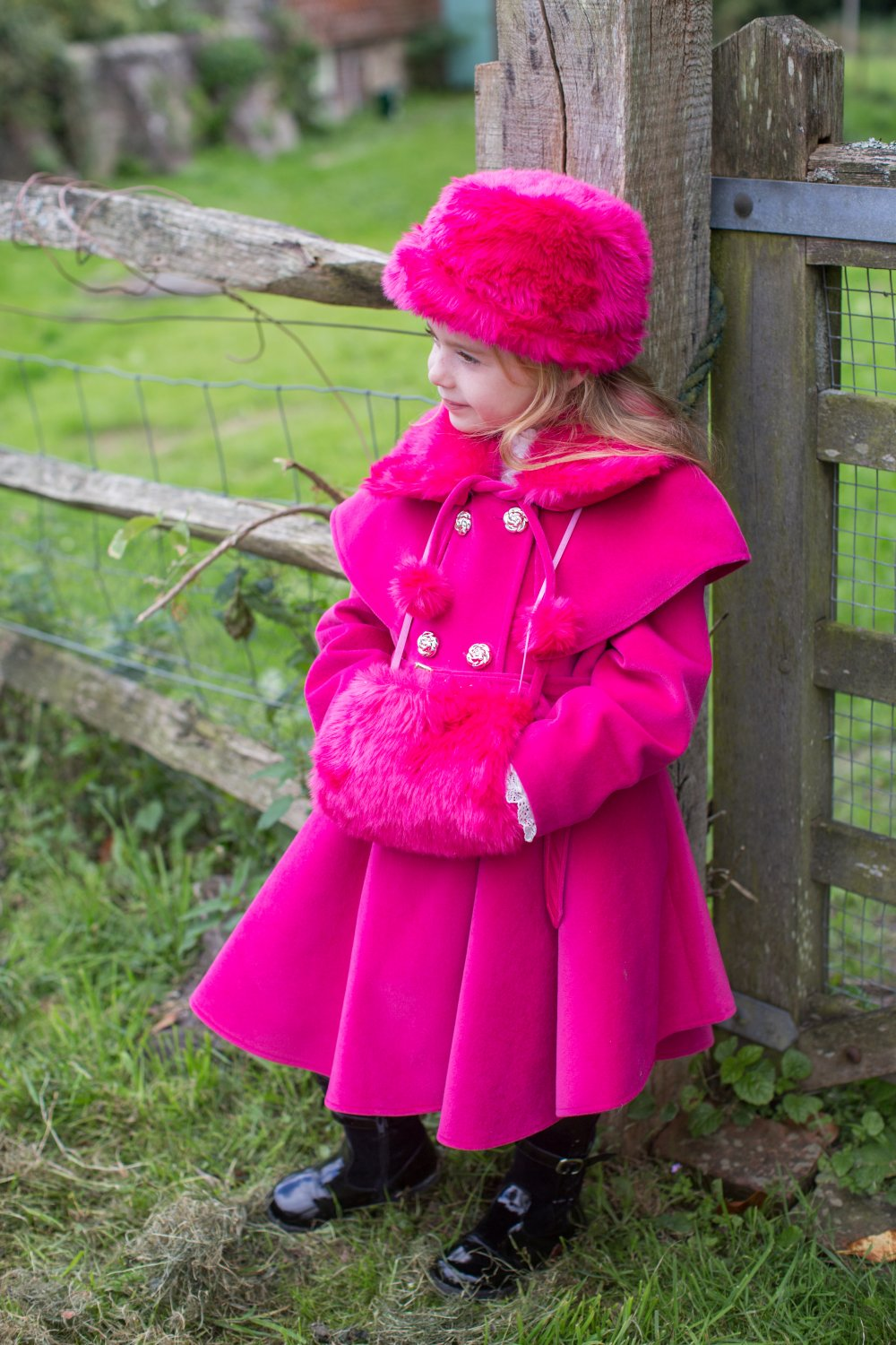Coat with matching hat and muff (available in different ...