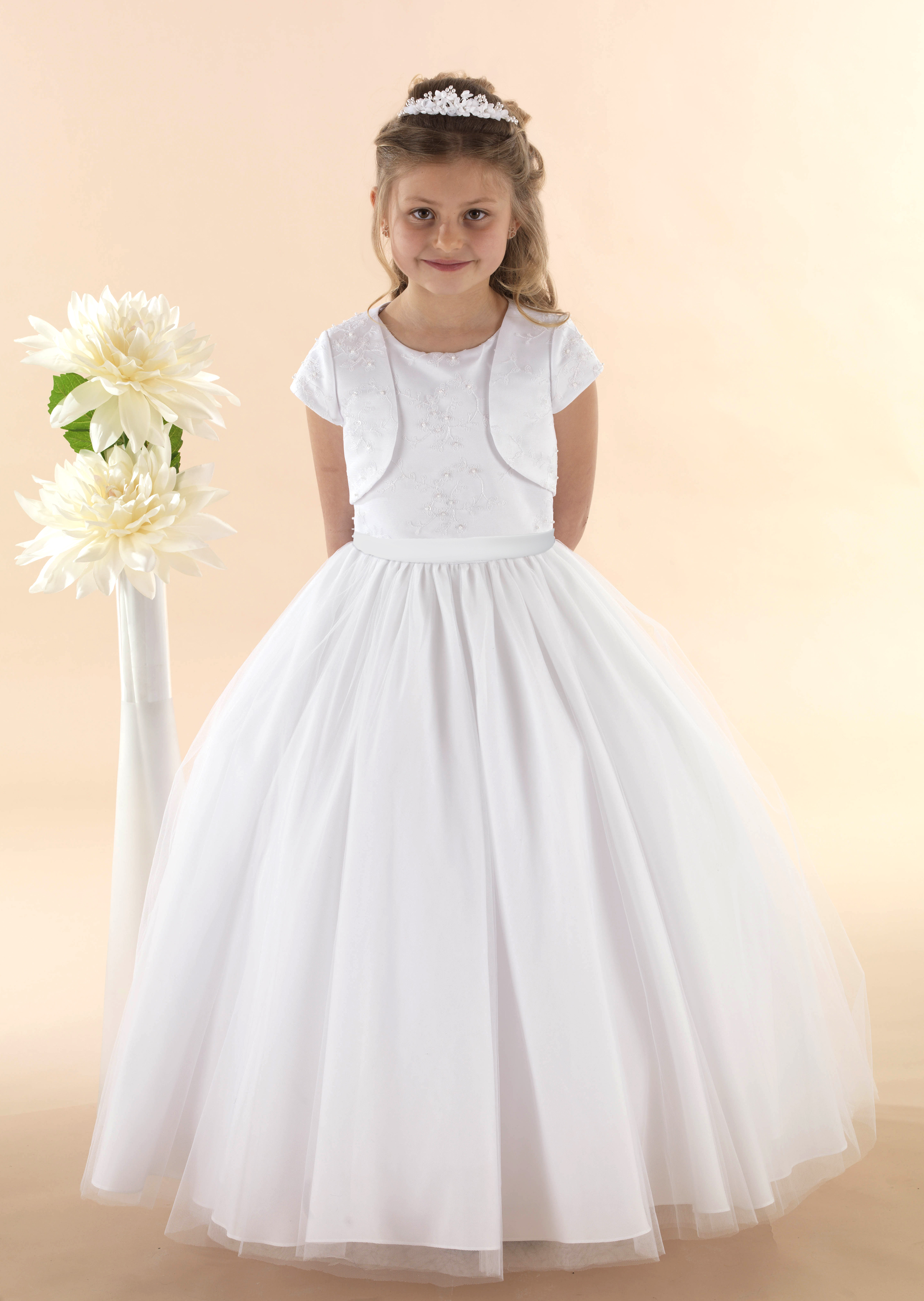 First Communion Shoes White Satin