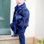 Boys Blue Checked Jacket set