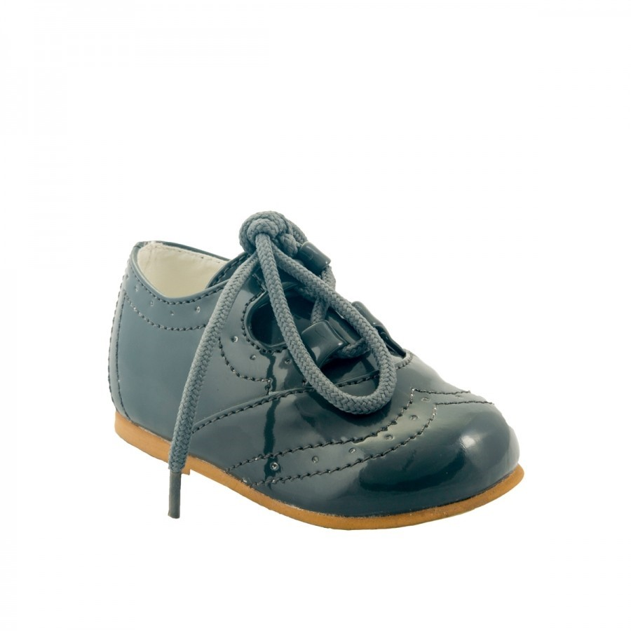 Baby Boys Lace Shoe by Sevva – Black Navy or Grey
